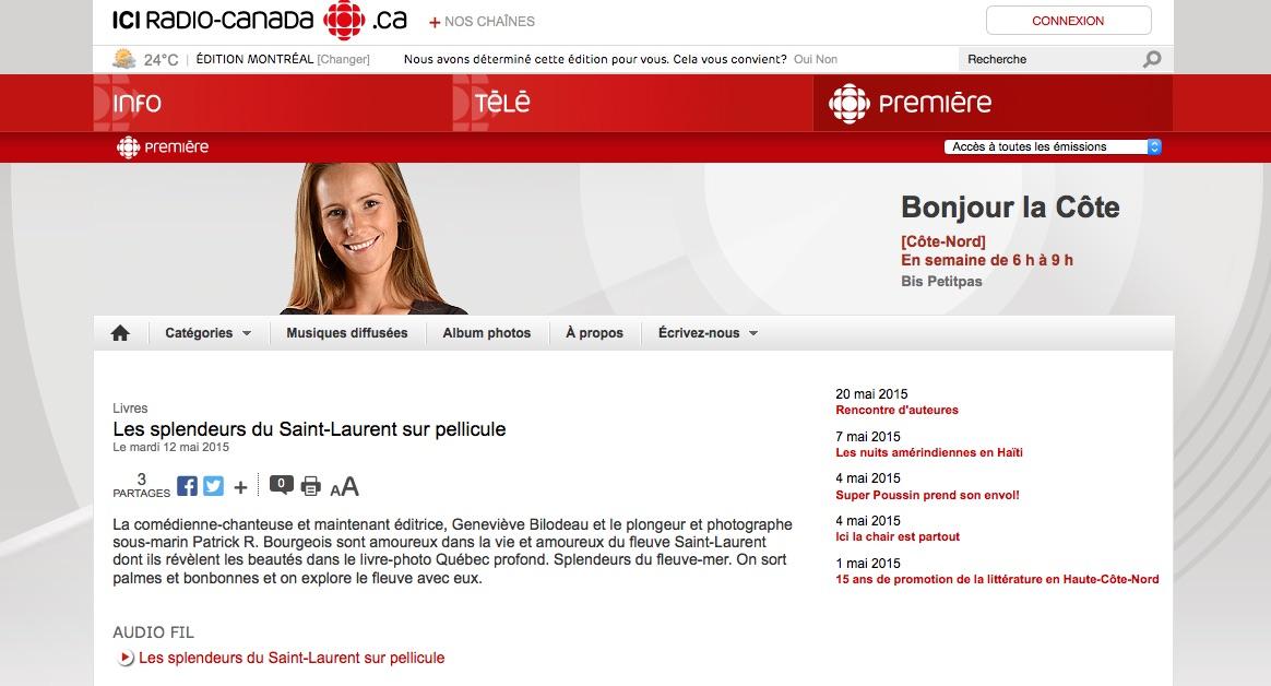 Radio Canada Cote Nord >> Quebec Profond A Bonjour La Cote Radio Canada Quebec Profond
