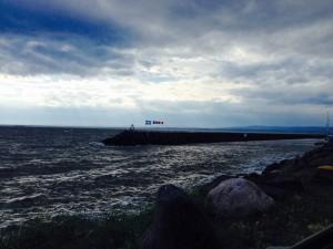 le ciel se couvre dans la baie de Sept-Iles